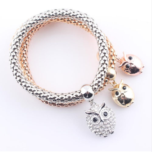 Owlfamily Owl Charms Bracelets Set