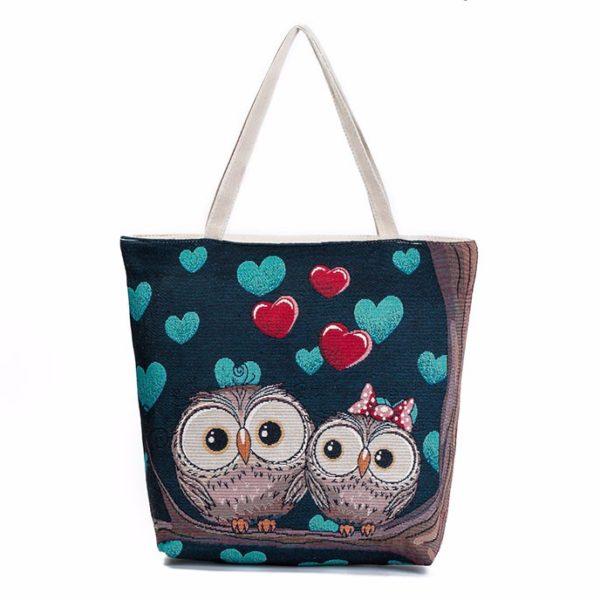 Cartoon Owl Shoulder Bag