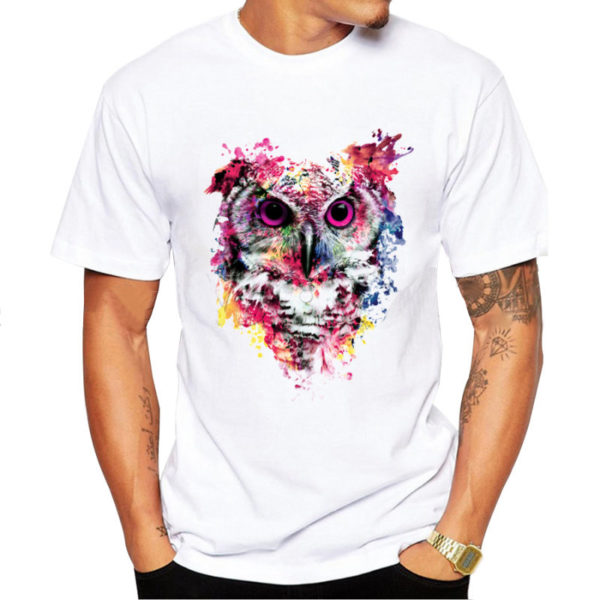Design owl men t shirt owlfanworld T shirt with owl design
